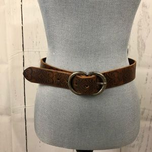 fa4f099b9 Ted Baker Brown Leather size 4 belt EUC